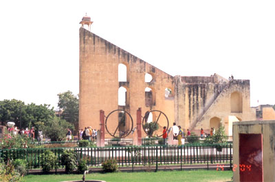 One of the major tourist attractions in Jaipur is the sundial of Jantar Mantar. It was conceived as a quest for discovering the mysteries of the Cosmos. The Jantar Mantar is a corruption of the Sanskrit word yantra mantra meaning instruments and formulae.