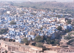 Overview of the Blue city and encircled by a stone wall, the city of Jodhpur was founded in 1459 by Rao Jodha, the chief of the Rathore clan of Rajputs and was the capital of the State of Marwar