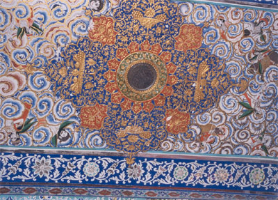 Intricate ceiling in the fort