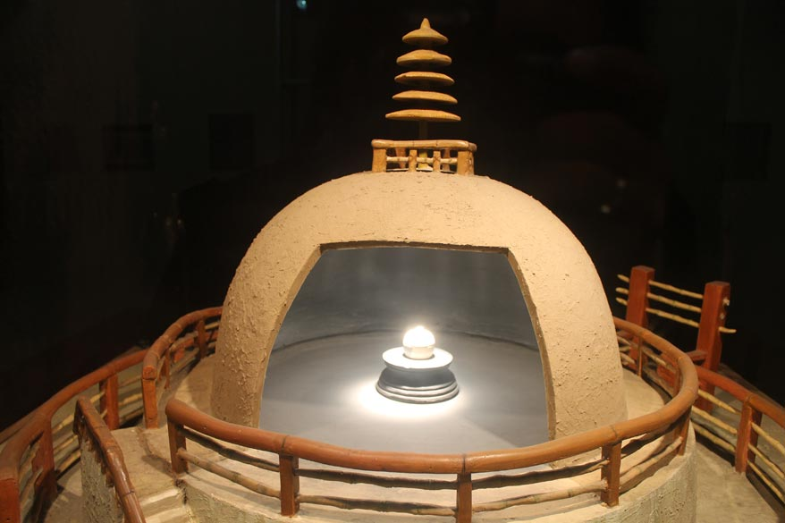 The special chamber in which Buddha``s relics are kept in the Patna museum.