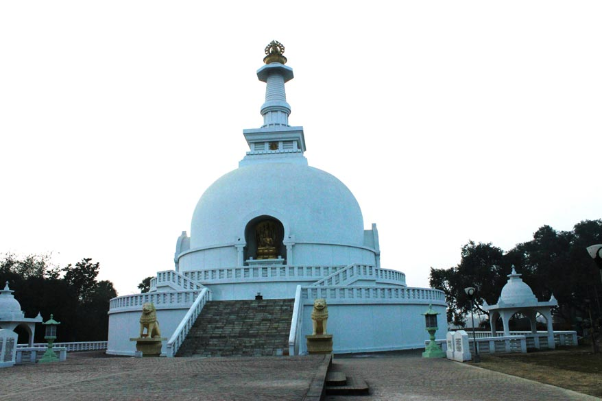 The Pagoda or Shanti Stupa was built by the Japanese to mark the atomic bomb tragedy in Japan. Vaishali was chosen for this construction because of its significant importance in the life of the Buddha.