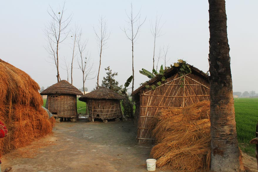 Typical rural huts, very authentic to this small agri-town.