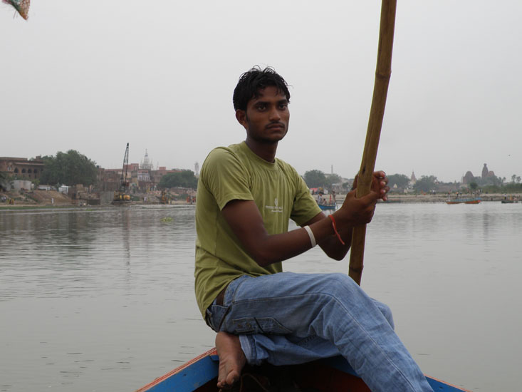 Went for a boat ride in the river Yamuna, do early morning or after 4ish. You see boatmen, simple guy, full of stories 